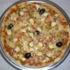 البيتزا بالقمرون والكفتة